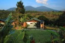 Tenorio Lodge Bungalow mit Blick zum Vulkan Tenorio