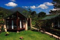 Bungalow Tenorio Lodge mit Sicht auf Vulcan Miravalle