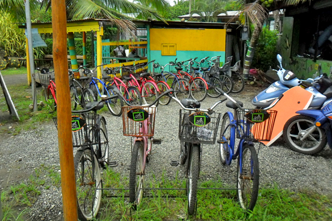 Bananoverleih in Puerto Viejo