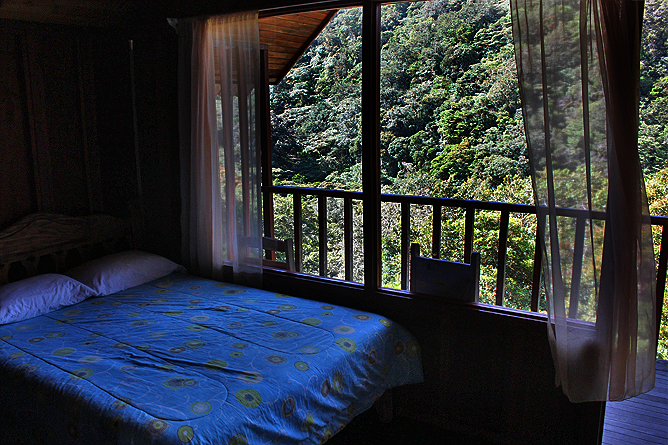 Albergue Pozo Verde – Holzbungalow: Doppelbett