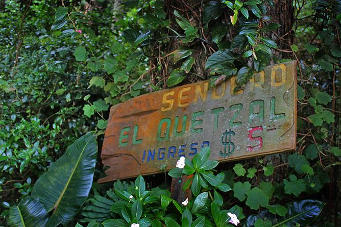 Albergue Pozo Verde – Quetzal-Lehrpfad: Eingang