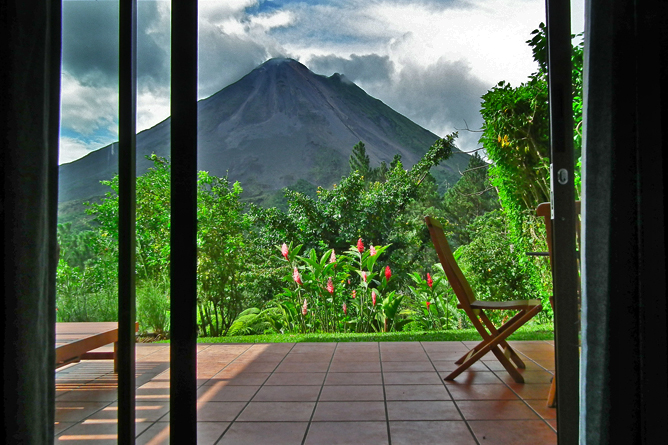 Arenal Observatory Lodge – Blick auf den Vulkan