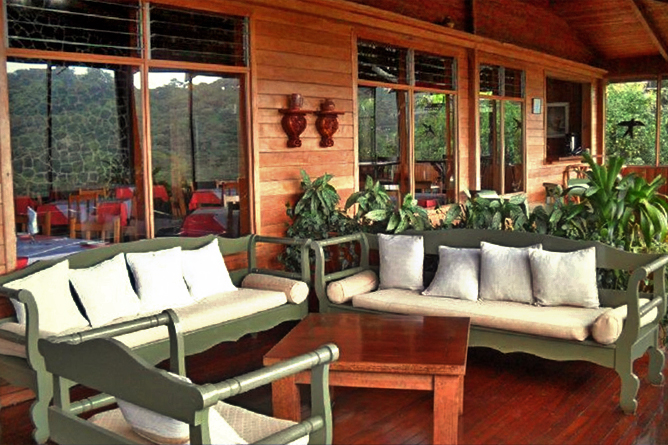 Monteverde Cloud Forest Lodge: Restaurant & Terrasse