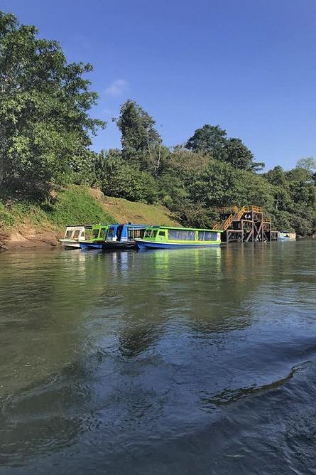 Biologische Station La Selva Bootstouren am Fluss Sarapiqui