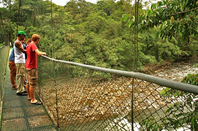 Tirimbina-Lodge – Hängebrücke im Biologischen Reservat