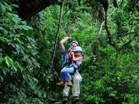 Samasati: Canopy-Tour, Vater und Tochter
