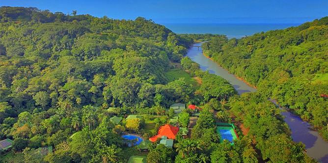 Aerial picture of Villas Rio Mar Ocean and river