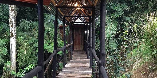 Arenal Kokoro – Junior Suite: Eingang zum Bungalow