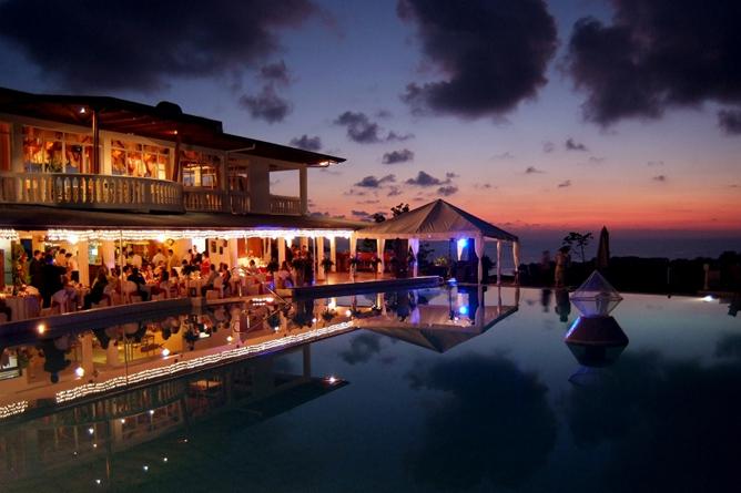 Cristal Ballena – Restaurant mit Sonnenuntergang