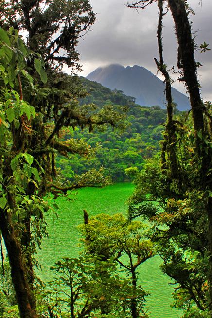 Green Lagoon – ANC-Park: Sicht auf Lagune und Vulkan