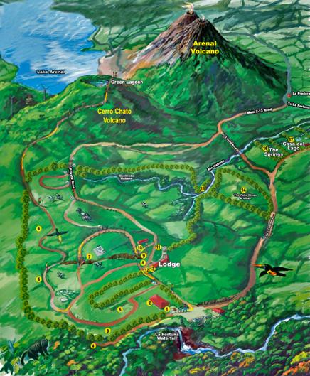 Green Lagoon – Karte von der Hotelanlage