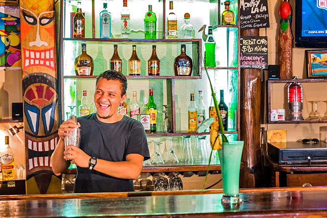 Pasatiempo Bar Monkey La La Barkeeper