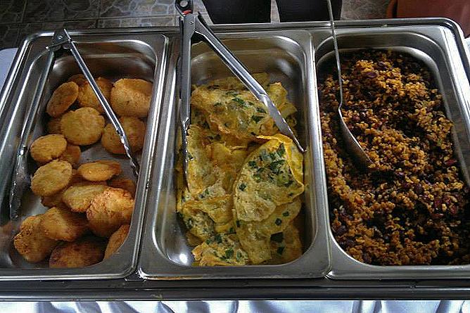 Finca Luna Nueva – Restaurant: Frühstück