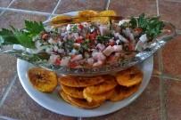 Finca-Luna-Nueva-Restaurant-Ceviche-mit-Kochbananenfritters