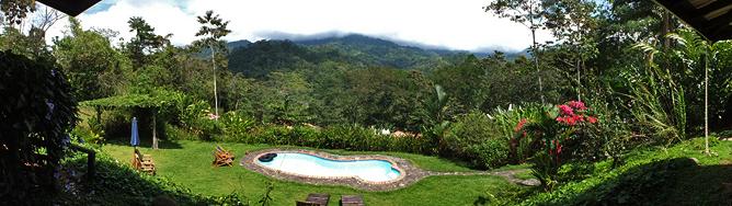 La Cacatúa Lodge – Sicht vom Restaurant