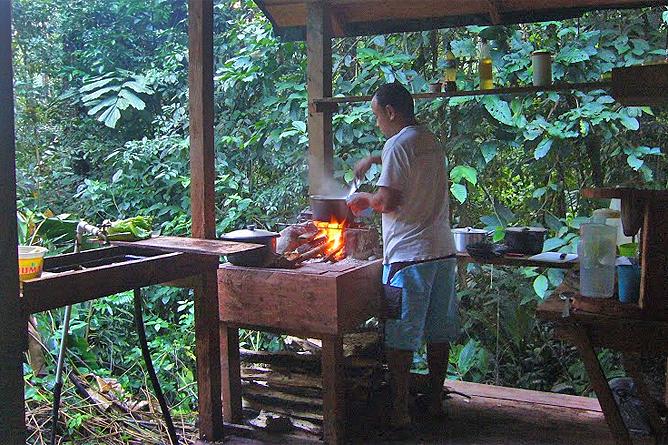 Selva Bananito Lodge – Plattform mit Küche