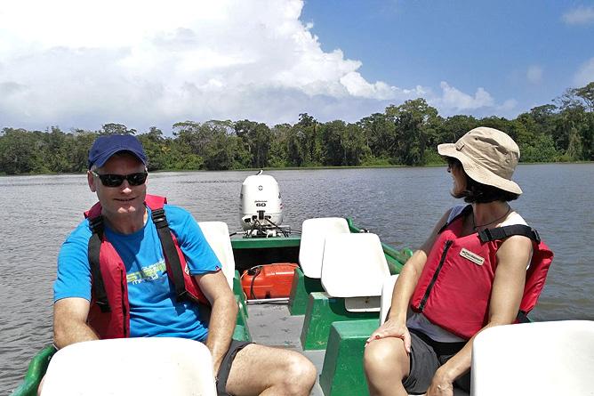 Lirio Lodge Bootstour Lagune Madre de Díos Fluss