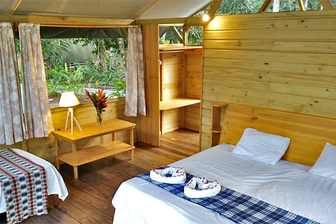 Lirio Lodge King Bungalow offene Bauweise