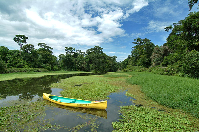 Lirio Lodge Kanufahren Kanäle Barra Pacuare Costa Rica