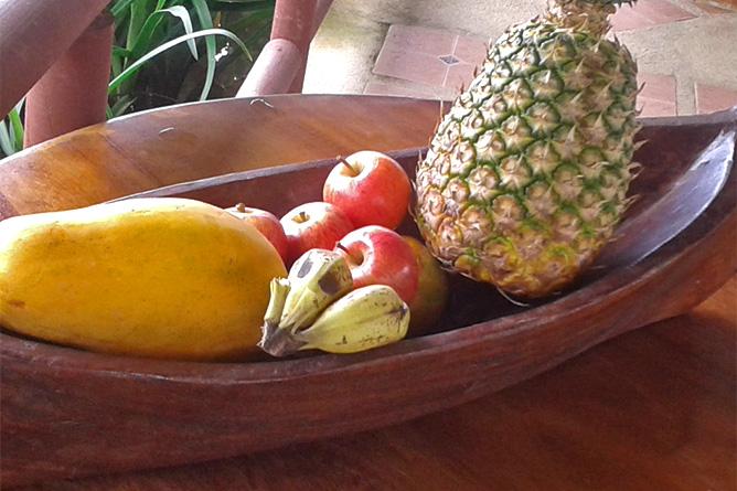Lirio Lodge Restaurant Früchte