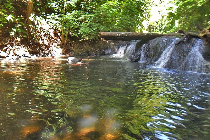 San Pedrillo Station – Corcovado, Baden im Wasserfallbecken