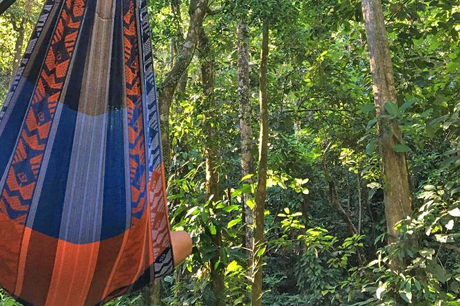 Yaba Chigui Lodge – Hängematte mit Blick in den Regenwald