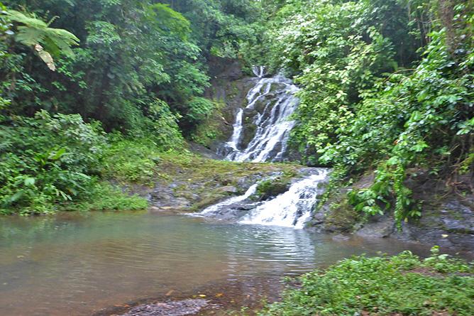 Macaw Lodge – Aktivitäten: Wasserfall