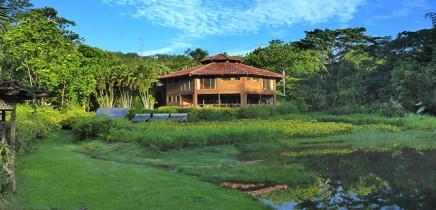 Macaw-Lodge_Blick-von-Lagune-auf-die-Lodge