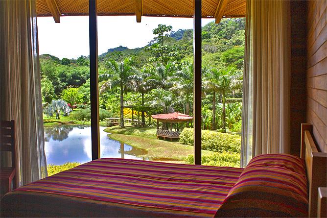 Macaw Lodge – Standard-Zimmer mit Lagunenblick