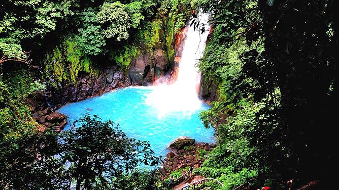 Catarata Río Celeste – Aktiv: Rio Celeste Wasserfall