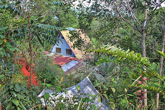 Isla Violín – Anlage, Ansicht vom Hügel