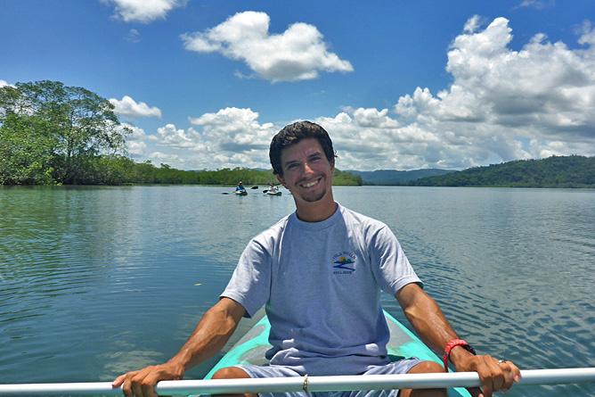 Isla Violín – Kajakfahren im Meer mit Alberto