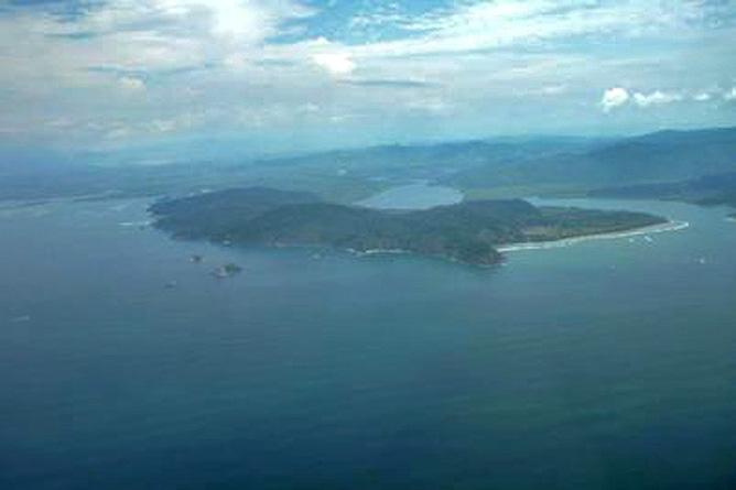 Isla Violín – Luftaufnahme der Insel Violín