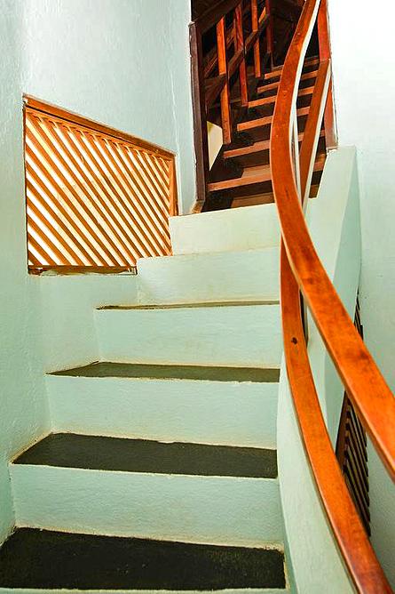 Luna Llena Bungalow Treppenaufgang