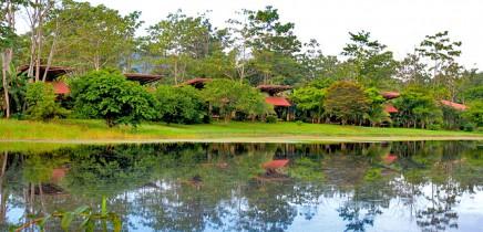 Maquenque-Lodge_Bungalows--mit-Blick-auf-Teich