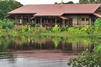 Maquenque-Lodge_Restaurant-Blick-vom-Teich