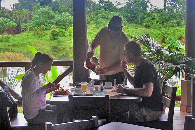 Maquenque Lodge – Restaurant, Frühstück