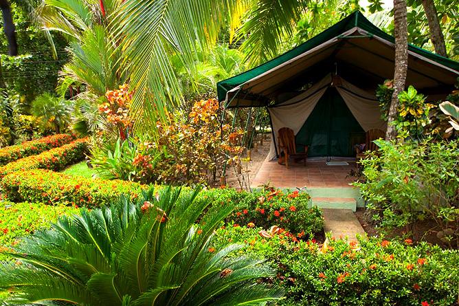 Rafiki Beach Camp – Zelt Aussenansicht