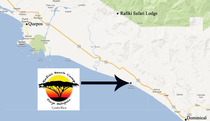 Rafiki Beach Camp – Lage