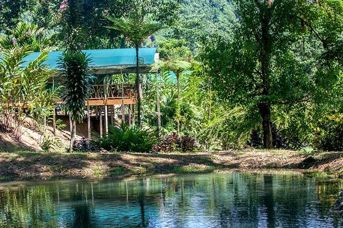 Rafiki Safari Lodge – Bungalow, Blick auf Lagune