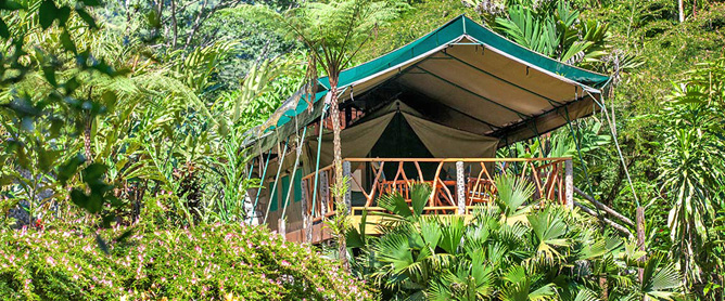 Rafiki Safari Lodge – Safari-Zelt, Aussenansicht