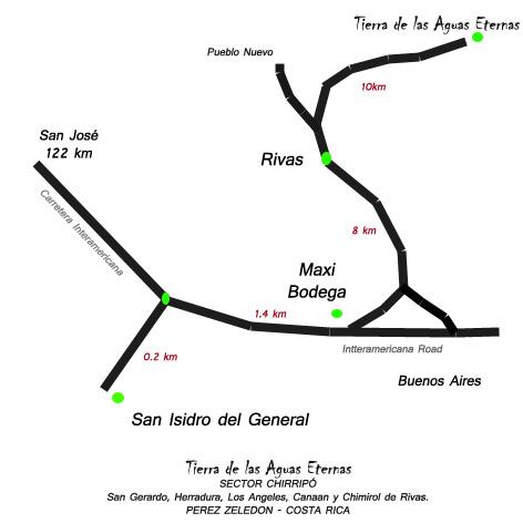 El Pelicano Orientierungskarte