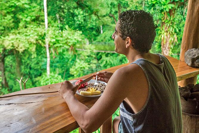 Los Campesinos Eco Lodge – Frühstück mit Ausblick