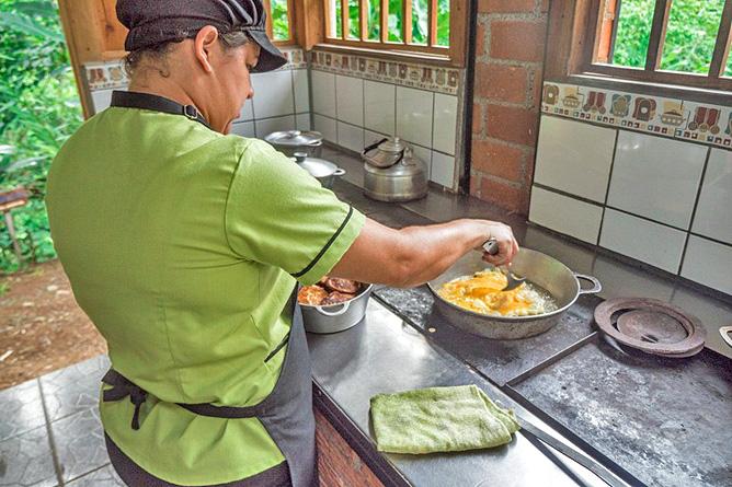 Los Campesinos Eco Lodge – Restaurantküche