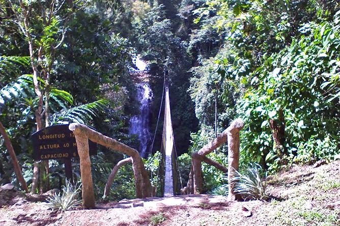 Los Campesinos Eco Lodge – Hängebrücke