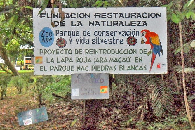 Piedras Blancas Nationalpark Freilassungsstation