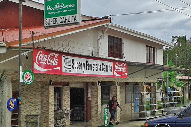 Supermarkt Hauptstraße nach Cahuita