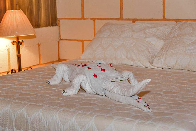 Arenal Oasis Bett Dekoration