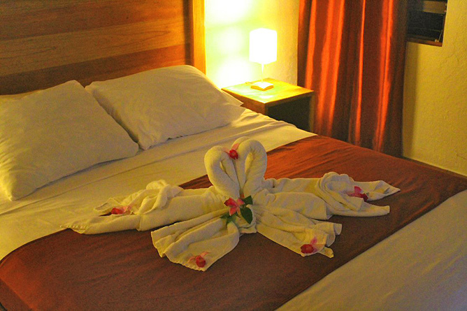 Ceiba Tree Lodge Komfort-Zimmer Doppelbett