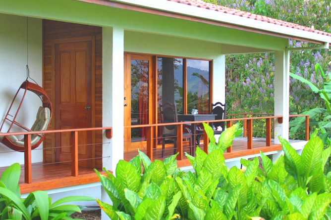 Ceiba Tree Lodge Komfort-Zimmer Terrasse
